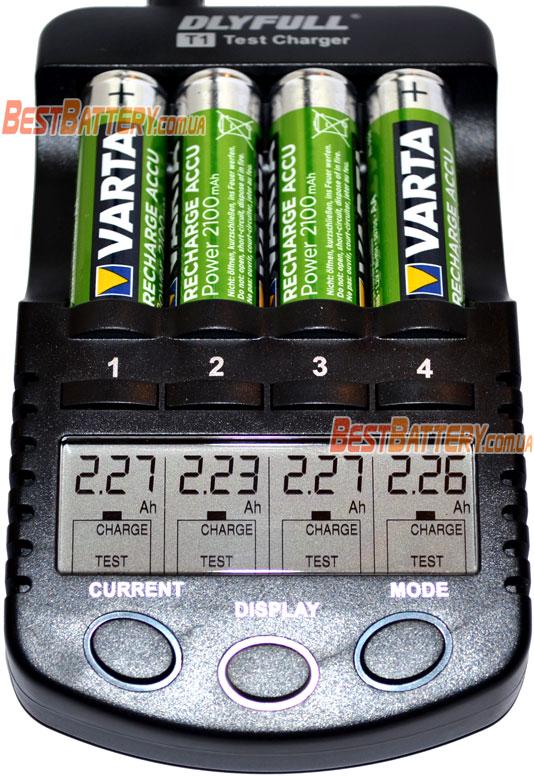 Результат тестирования аккумуляторов Varta Power 2100 mAh AA.