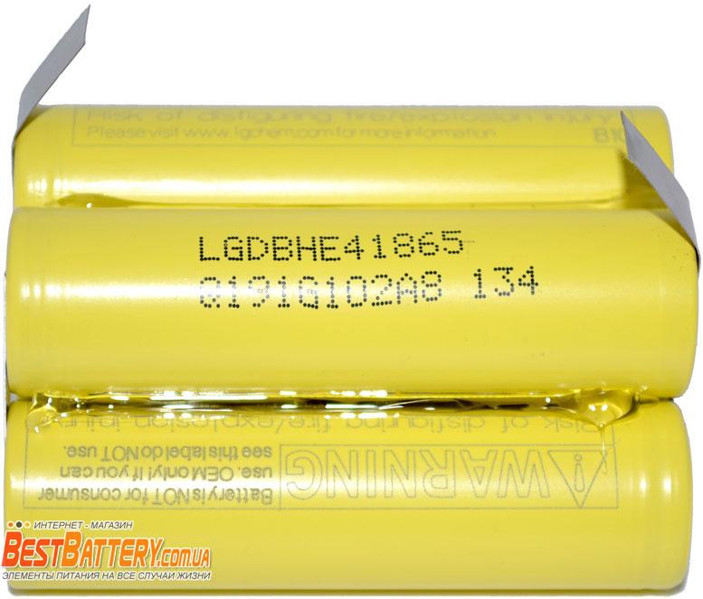 Аккумуляторную сборку на 18.5V, 2500 mAh 5S1P 18650 LG HE4.