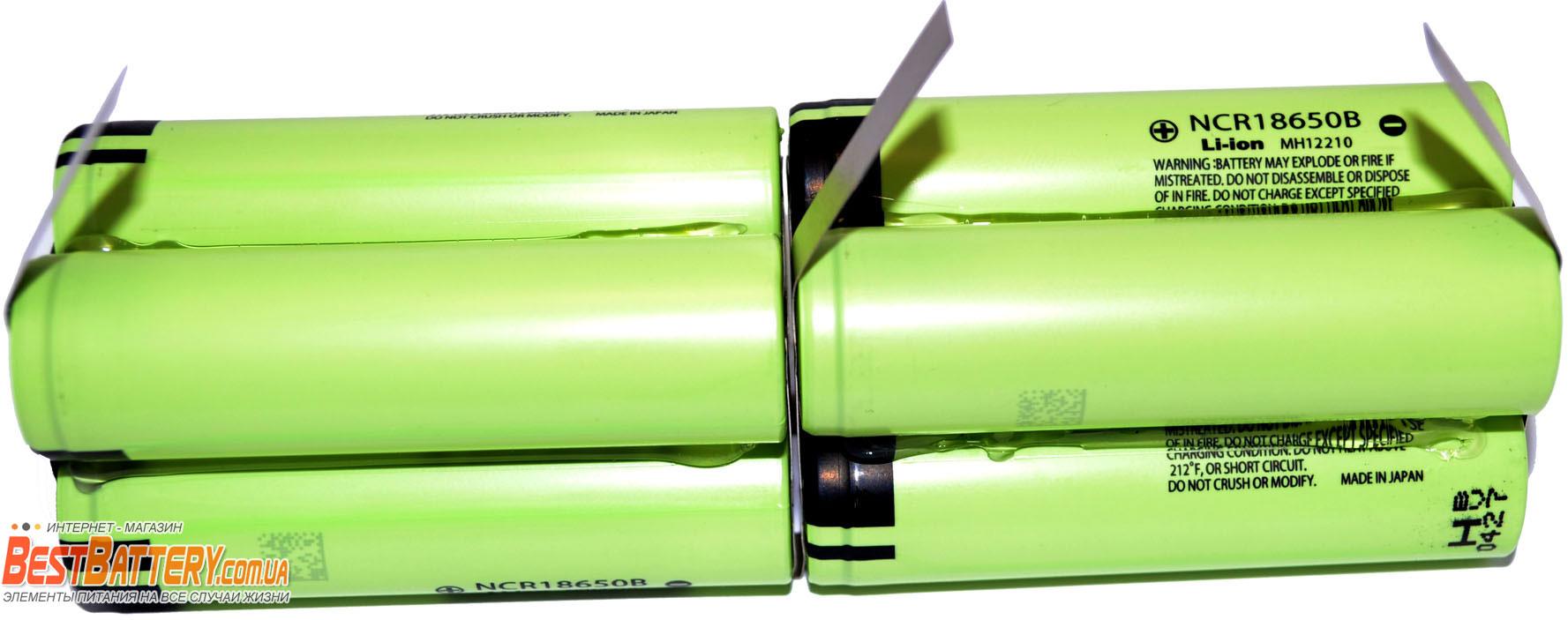13600 mAh Panasonic NCR18650B аккумуляторная сборка.