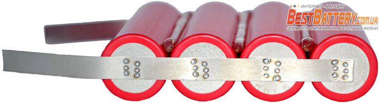 Аккумуляторная сборка для Павер Банка Sanyo NCR18650GA на 14 000 mAh 3,7В.