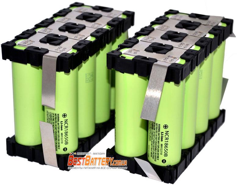 Аккумуляторная сборка 27 200 mAh 3,7В (1S8P) из Li-Ion аккумуляторов 18650 Panasonic NCR18650B.