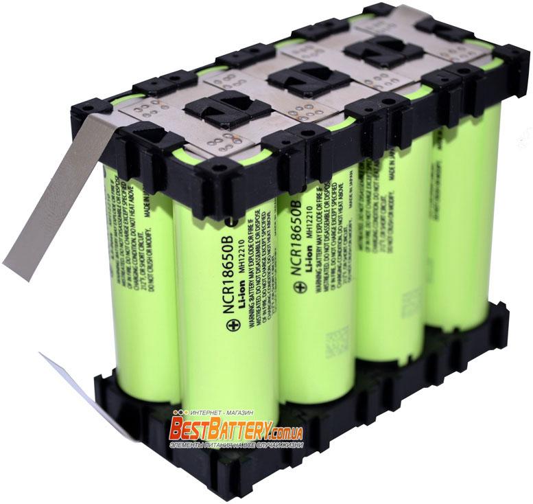 Сборка из аккумуляторов 3.7V Panasonic NCR 18650B 1S8P 27200 mAh.