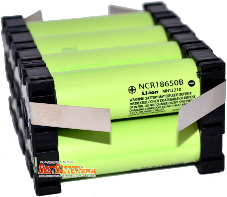Аккумуляторная сборка 27200 mAh Panasonic NCR18650B 3.7V 1S8P.