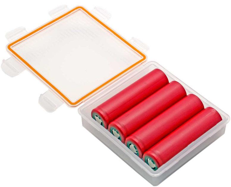 Водонепроницаемый бокс для 4-х Li-ion аккумуляторов 18650 или 8-и аккумуляторов 16340