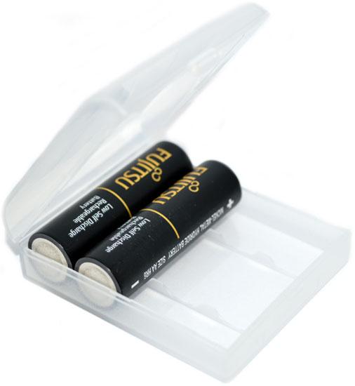 Пластиковый бокс на 4 пальчиковых (АА) аккумулятора, прозрачный.