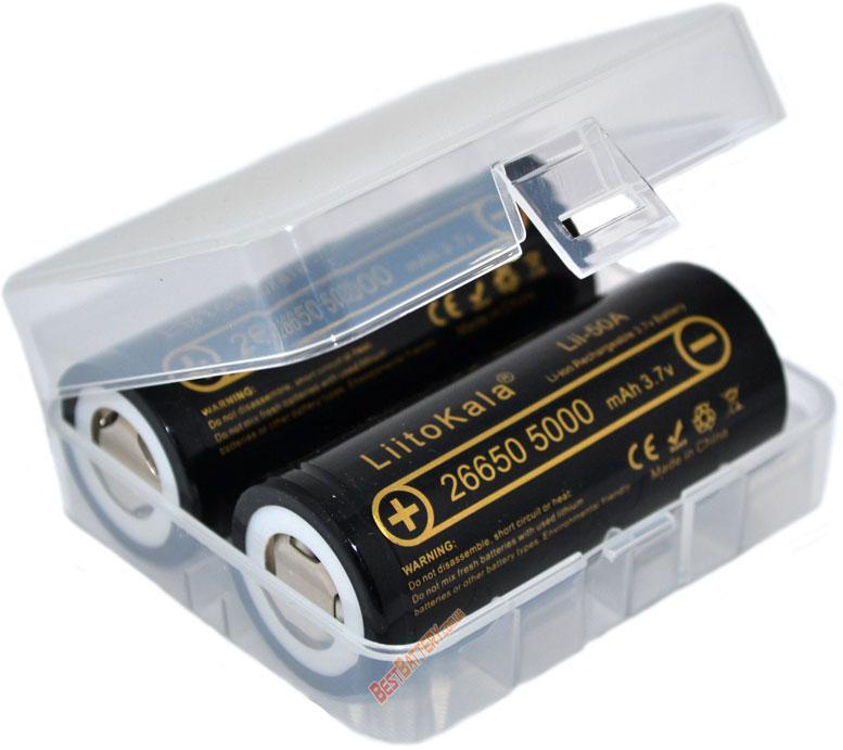 Бокс на 2 аккумулятора формата 26650 от Soshine (SBC-015).