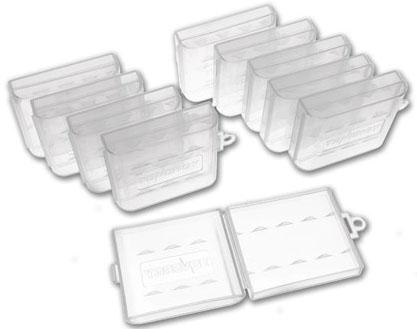 Фирменный пластиковый бокс Tenergy на 4 минипальчиковых (ААA) аккумулятора.