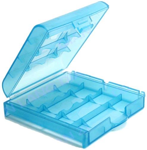 Универсальный пластиковый бокс АА ААА Голубой Синий