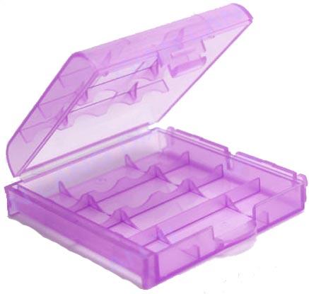 Универсальный пластиковый бокс АА ААА Фиолетовый Розовый