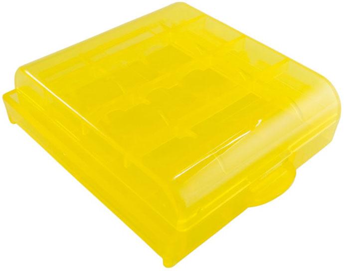 Универсальный пластиковый бокс АА ААА желтый.