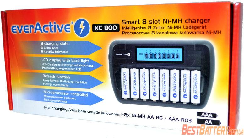EverActice NC 800 многоканальное зарядное устройство.