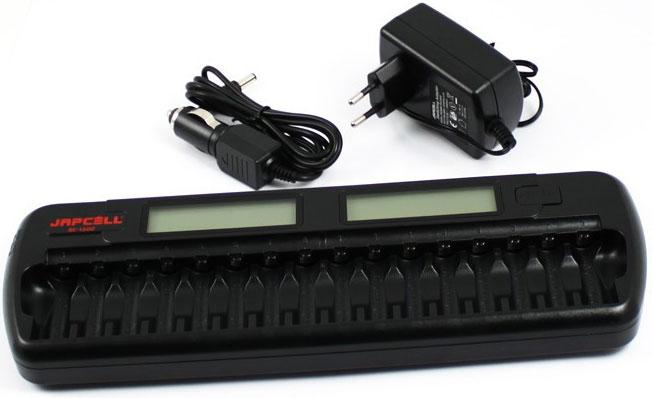 Japcell BC-1600 - зарядное устройство на 16 АА и ААА аккумуляторов + Автоадаптер