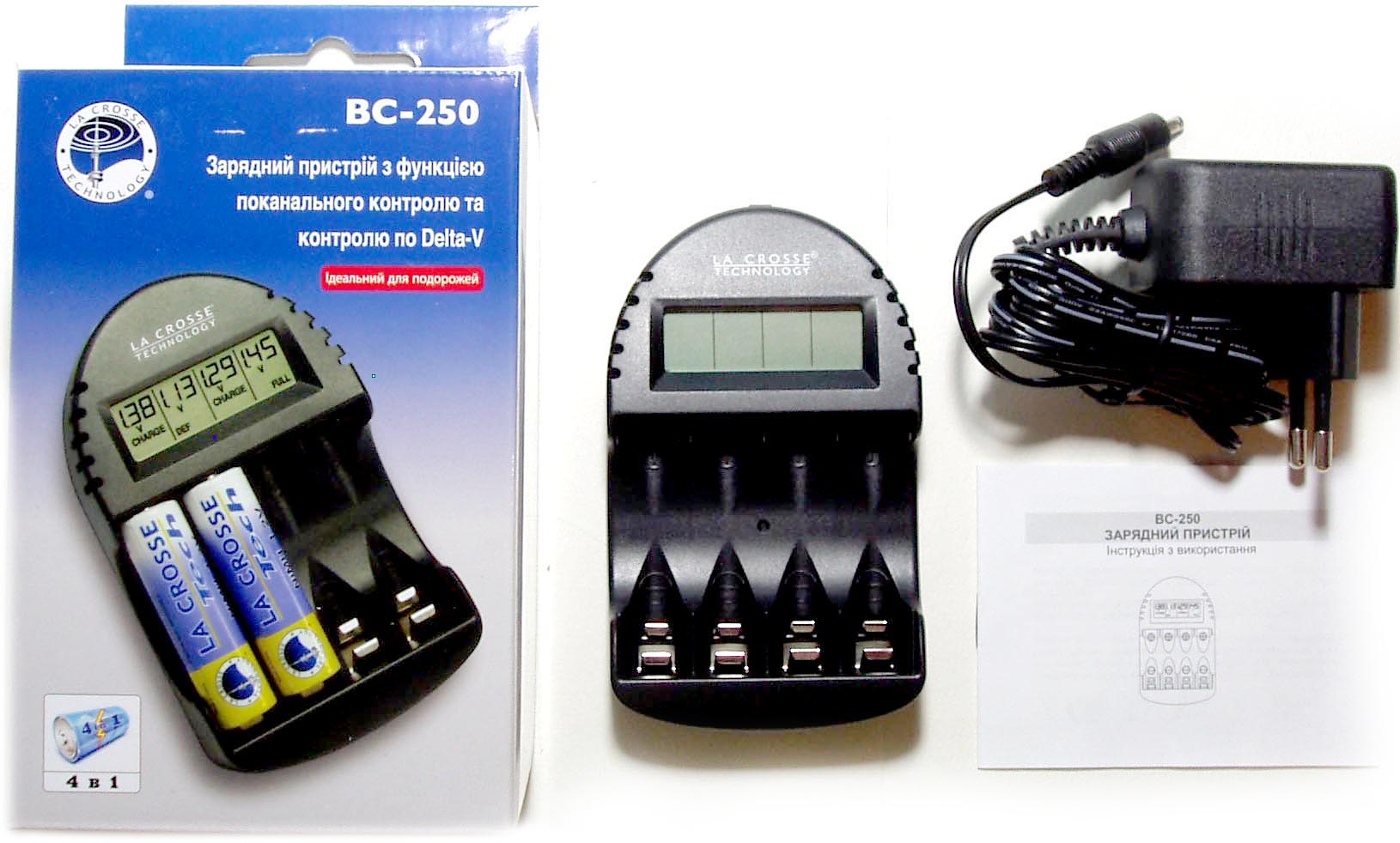 La-Crosse BC 250, зарядное устройство АА, ААА