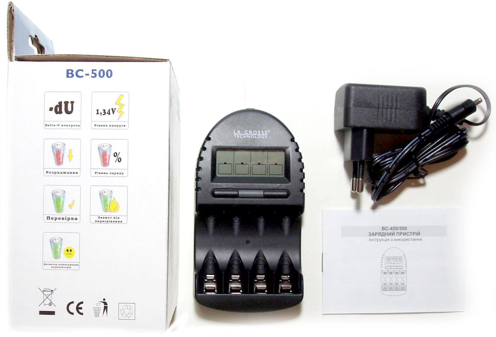 La-Crosse BC 500 - интеллектуальное зарядное устройсво.