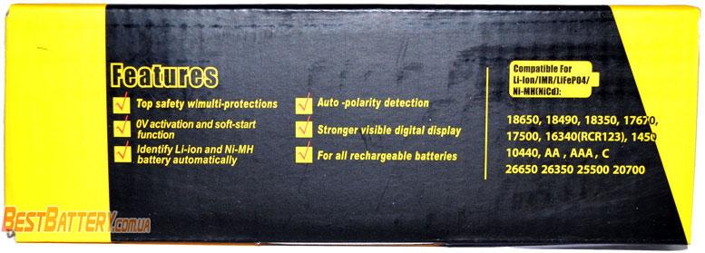 Зарядное устройство Liitokala Lii-S6 - совместимые аккумуляторы.