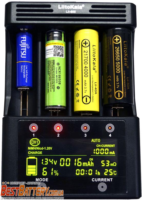 Универсальность зарядного устройства Liitokala Lii-600.