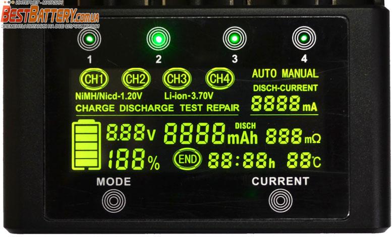 Зарядное устройство Liitokala Lii 600 контрастный информационный дисплей.