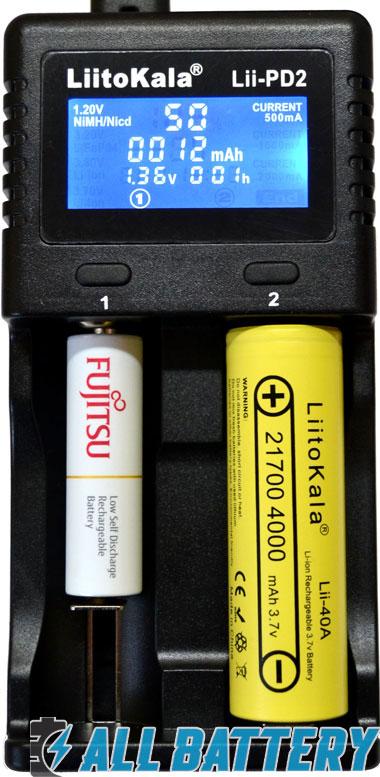 Универсальность зарядного устройства Liitokala Lii-PD2.