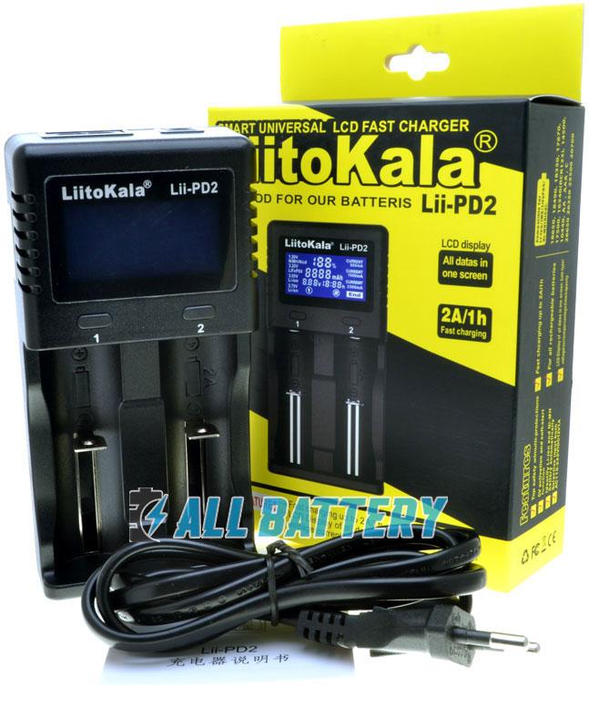 Комплект поставки зарядного устройства LiitoKala Lii PD2.