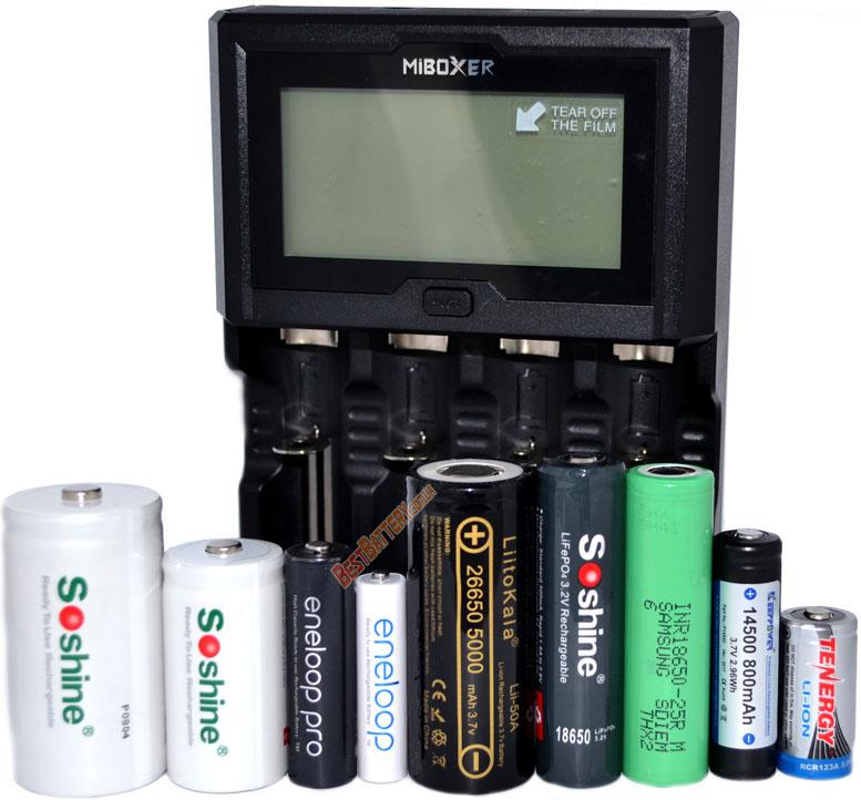 Универсальность зарядного устройства MiBoxer C4-12.