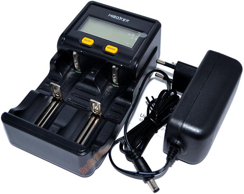 Miboxer C2 4000 - универсальное зарядное устройство для Ni-Mh/Ni-Cd, Li-ion (IMR/ICR/INR) и LiFePO4 аккумуляторов на 2 канала.