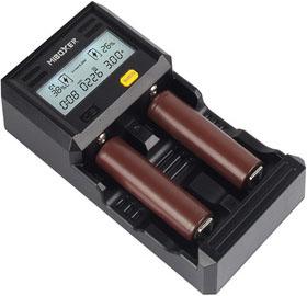 Miboxer C2-6000 - Быстрое универсальное зарядное устройство для Ni-Mh, Ni-Cd и Li-ion аккумуляторов с Power Bank. 6А.