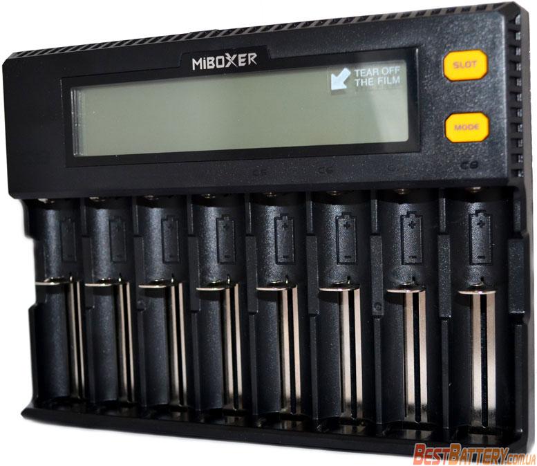 MiBoxer C8 - универсальное зарядное устройство на 8 аккумуляторов.