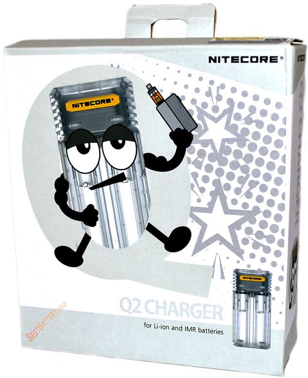 Nitecore Q2 charger Lemonade белого цвета