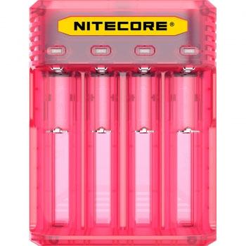 Зарядное устройство Nitecore Q4 розового цвета