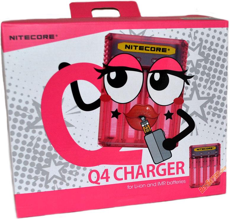 Особенности зарядного устройства Nitecore Q4 pink.