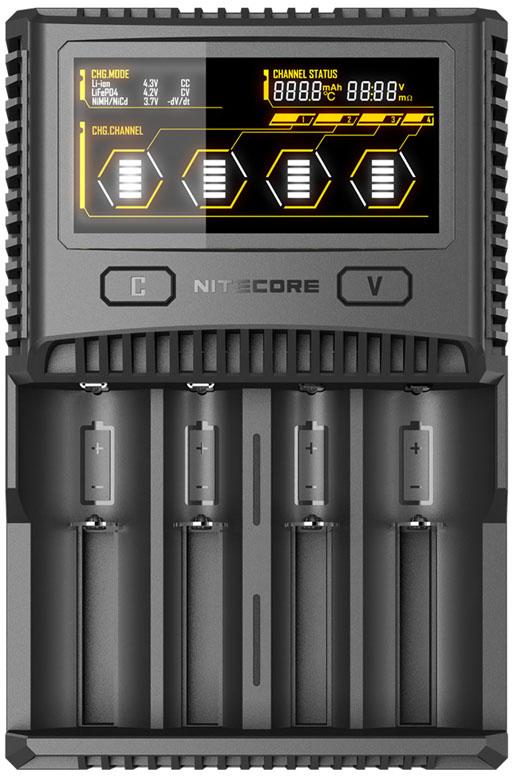 Nitecore SC4 - универсальное интеллектуальное зарядное устройство для Ni-Mh/Ni-Cd/Li-ion/IMR/LiFePO4 аккумуляторов