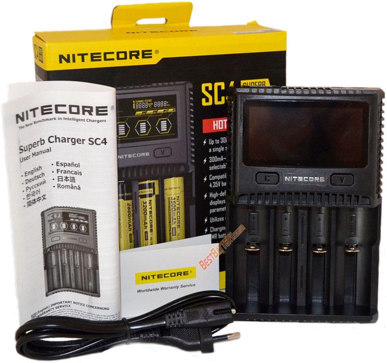 Комплект поставки Nitecore SC4