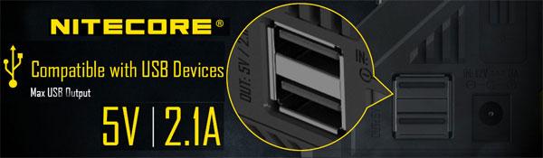 Nitecore i8 2 USB порта на 5V 2.1A