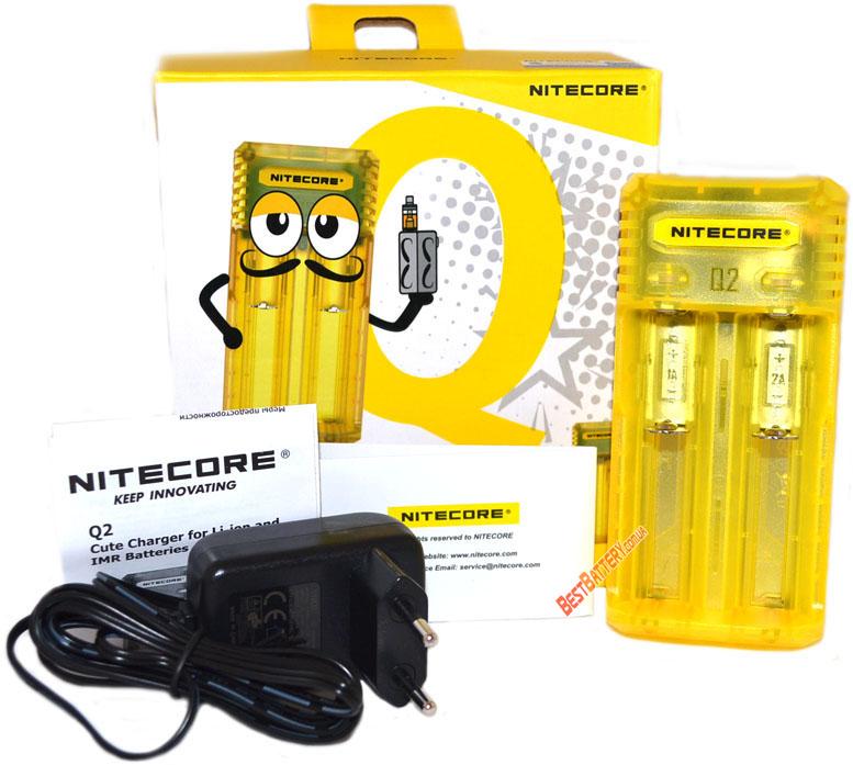 Комплект поставки Nitecore Q2 желтого цвета