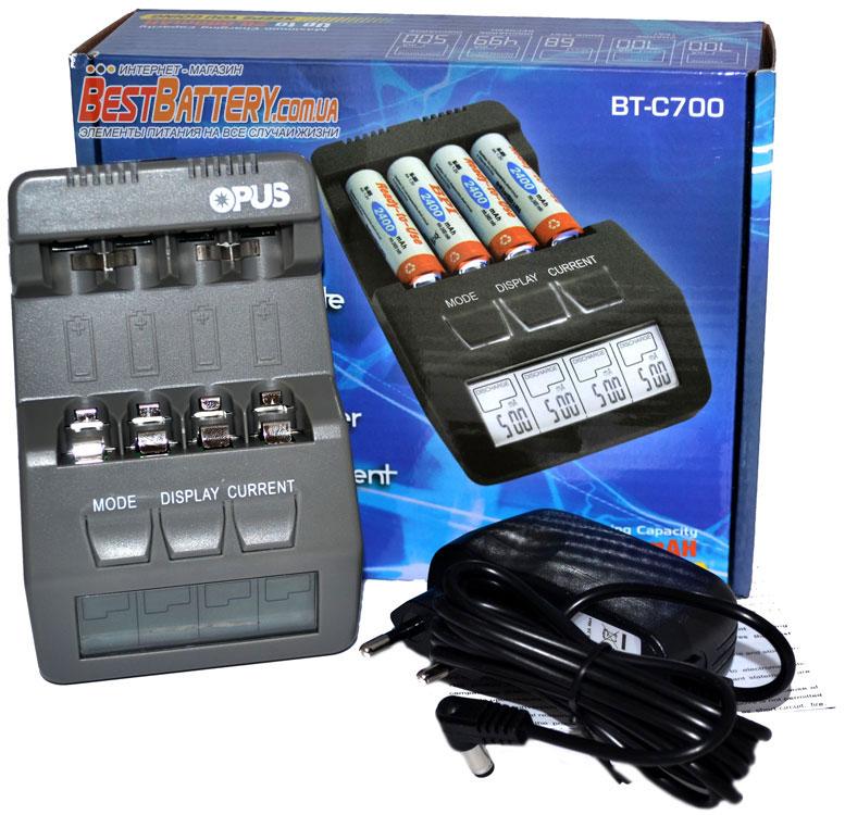 Комплект поставки зарядного устройства OPUS BT-C700 v2.2.
