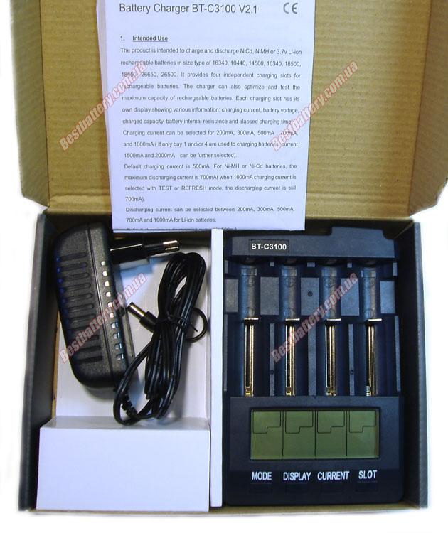 Комплект поставки зарядное устройство Opus BT-C3100 Intelligent charger v2.2