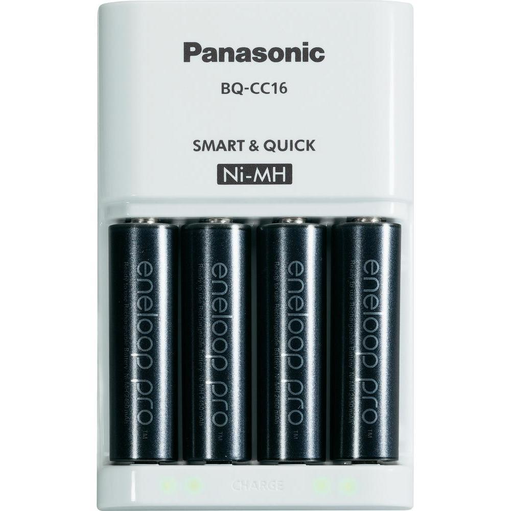 Panasonic Quickcharger BQ-CC16 + 4 AA Eneloop Pro 2550 mAh BK-3HCC