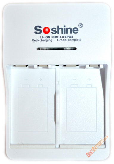 Soshine SC-V1 - универсальное зарядное устройство для аккумуляторов Крона, 2 независимых канала.