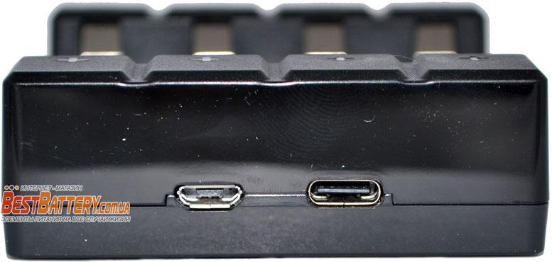 Зарядное устройство Soshine Chocolate USB 1.5V Li-Ion разъемы micro USB и type C.