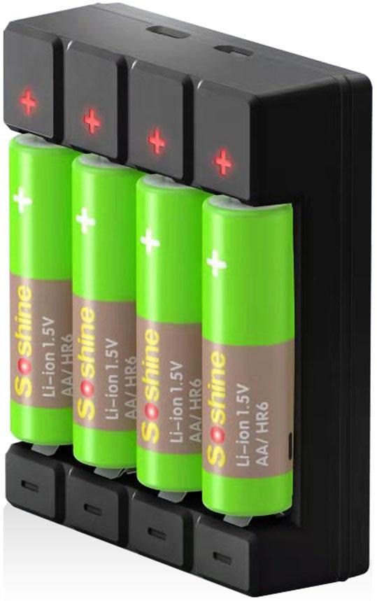 Зарядное устройство Soshine USB Battery Charger для 1.5V Li-ion AA AAA.
