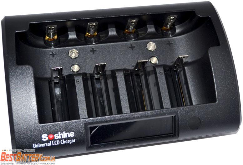 Soshine CD1 Pro - универсальное зарядное устройство для АА, ААА, C(R14), D(R20), Крон, 18650, 16340, 14500.