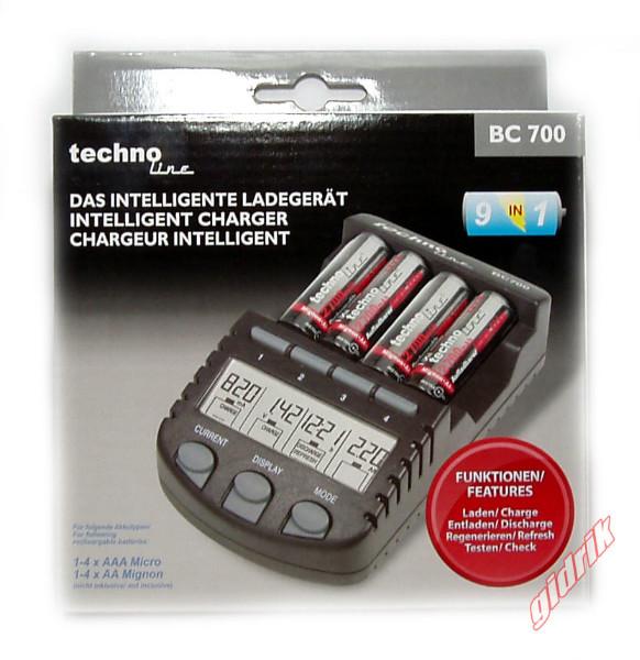 Technoline BC 700 - интеллектуальное зарядное устройсво для АА, ААА