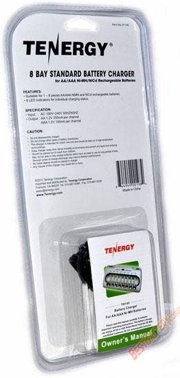 Tenergy TN145 зарядное устройство на 8 АА ААА аккумуляторов