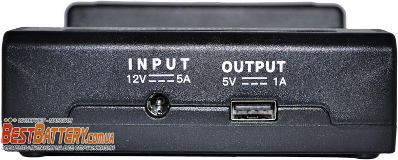 USB выход в зарядном устройстве Vapcell S4. Функция Power Bank.