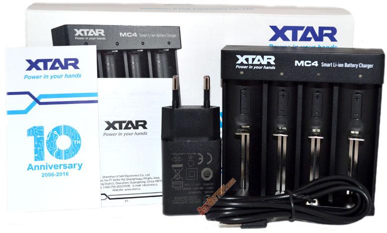XTar MC4 - универсальное зарядное устройство для Li-Ion аккумуляторов