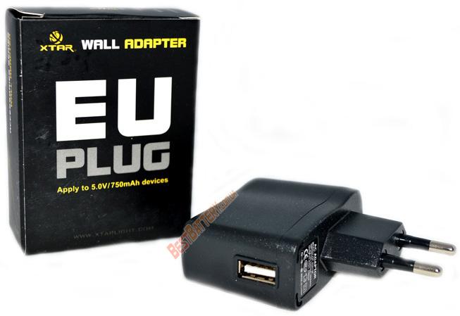 XTAR USB AC адаптер для зарядных устройств X-Tar