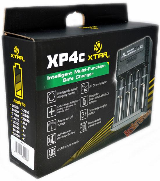 Зарядное устройство Xtar XP4c - универсальное автоматическое зарядное устройство на 4 никель-металлгидридных или 4 литий-ионных аккумулятора.