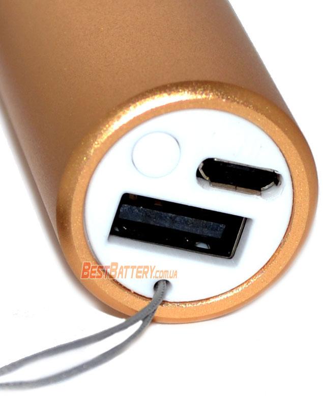 Встроенный USB порт в торце фонаря Soshine EC1.