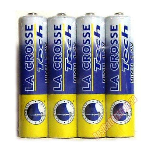 La-Crosse на 1000 mAh ААА фирменные минипальчиковые аккумуляторы.