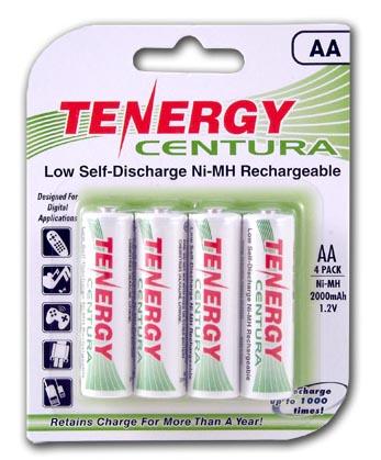 Пальчиковые АА аккумуляторы Tenergy Centura LSD 2000 mAh